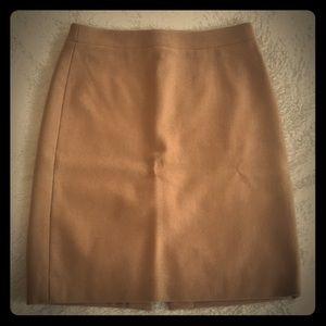 Jcrew - camel colored pencil skirt - size 2